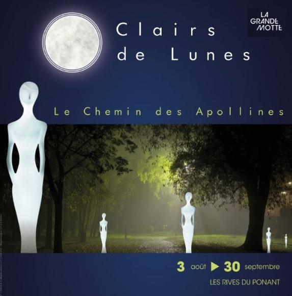 Clairs de lunes, le Chemin des Apollines