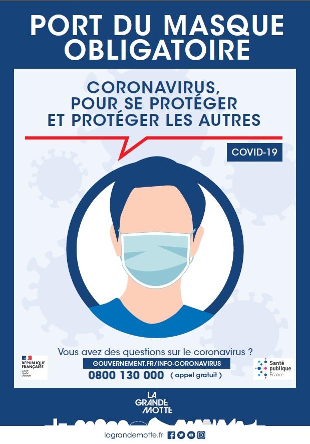 Port du masque obligatoire (mis à jour du 1/09)