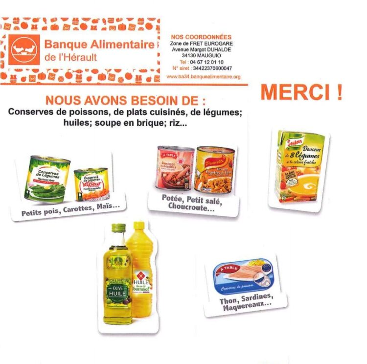 Collecte de la banque alimentaire, soyons «doublement solidaires»