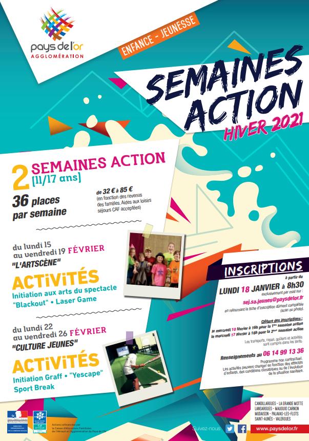 SEMAINES D'ACTION ESPACES JEUNES
