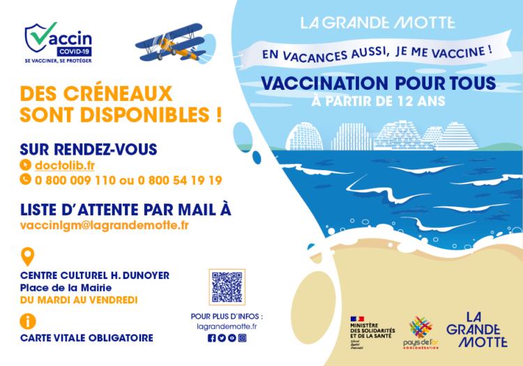 Vaccination: des places disponibles